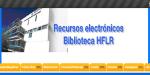 Web de recursos electrónicos de la Biblioteca HFLR
