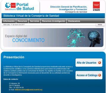 Biblioteca Virtual de la Consejería de Sanidad de Madrid